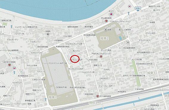 区分マンション-水戸市城東2丁目 地図