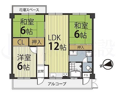 マンション(建物一部)-奈良市中山町西4丁目 間取り