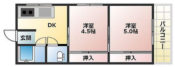 アパート-神戸市中央区熊内町8丁目 間取り