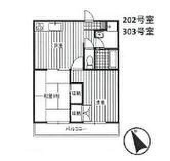 マンション(建物全部)-川越市南台2丁目 間取り図