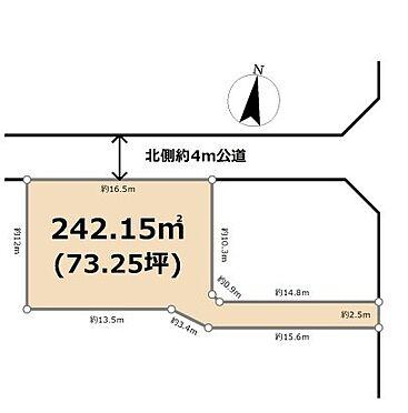 土地-東松山市大字高坂 区画図