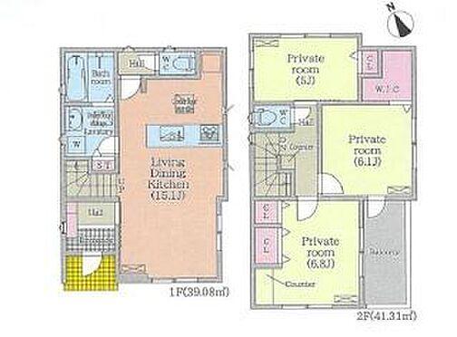 新築一戸建て-名古屋市名東区藤里町 リビング階段でご家族とのコミュニケーションも取りやすいです。