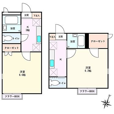アパート-世田谷区代田5丁目 *間取り図*