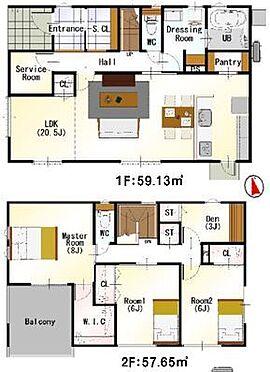 戸建賃貸-西尾市戸ケ崎3丁目 <2号棟>家族みんなが気持ちよく過ごすための構造と使いやすい間取りを実現。