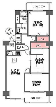 中古マンション-大阪市旭区高殿3丁目 間取り