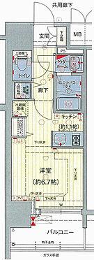 マンション(建物一部)-大阪市浪速区桜川2丁目 分譲時のパンフレットに掲載されてある平面図です