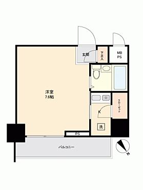 マンション(建物一部)-横浜市鶴見区市場大和町 間取り
