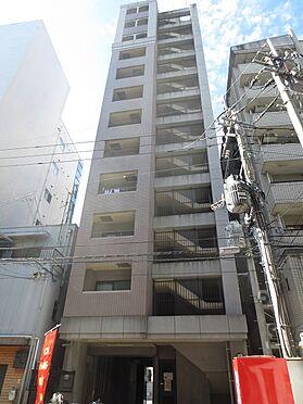 マンション(建物一部)-福岡市博多区博多駅前4丁目 裏側(北東側)の外観。この外観の左端の部屋です。令和2年10月撮影。