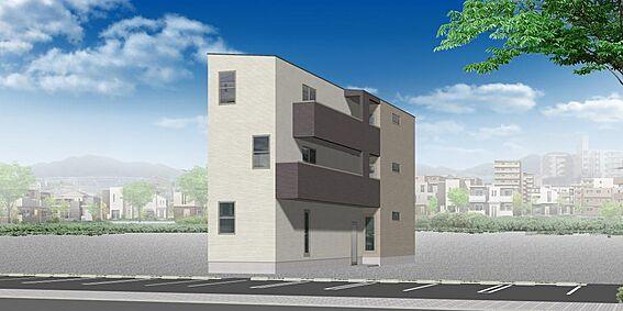 アパート-名古屋市南区道徳新町1丁目 外観パース(反転タイプ)※配色等、変更になる可能性もございます。