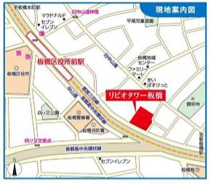店舗事務所(建物一部)-板橋区板橋3丁目 地図