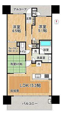 中古マンション-名古屋市中区松原2丁目 高層階のお部屋でウォークインクローゼット付きの3LDK♪ペット飼育も可能です(規約有)