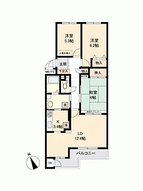 マンション(建物一部)-札幌市東区伏古6丁目 間取り