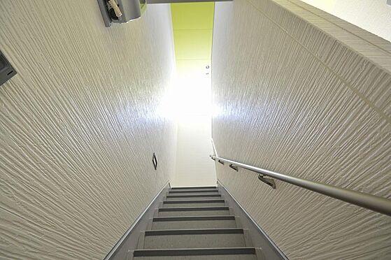 アパート-名古屋市港区港栄3丁目 綺麗に塗装された共有階段