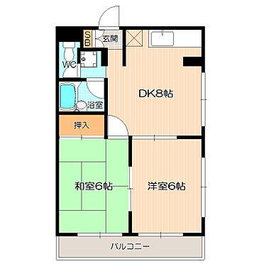 マンション(建物全部)-市川市伊勢宿 和室も兼ね備えた充実の2DK。