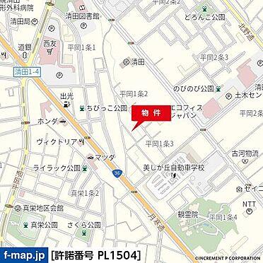 アパート-札幌市清田区平岡一条2丁目 地図
