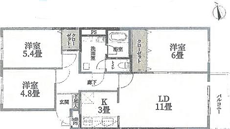 区分マンション-札幌市南区南三十二条西11丁目 間取り