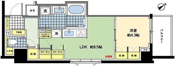 マンション(建物一部)-目黒区青葉台4丁目 1LDK、収納豊富、充実した設備が自慢です。