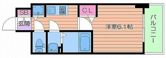 マンション(建物一部)-大阪市浪速区敷津東2丁目 間取り