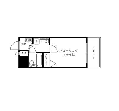 マンション(建物一部)-京都市下京区富永町 間取り