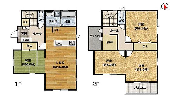 戸建賃貸-安城市和泉町八斗蒔 2階居室は各部屋8帖以上あり広々お使いいただけます。ライフスタイルの変化に合わせて3SLDK→4SLDKに変更できます♪