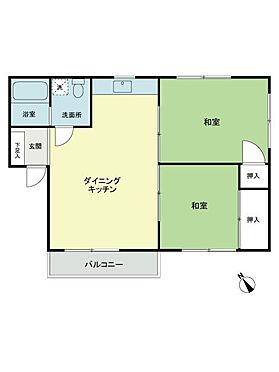 中古マンション-目黒区柿の木坂3丁目 間取り