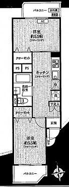 中古マンション-新宿区愛住町 間取り