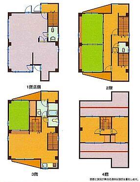 店舗付住宅(建物全部)-千葉市中央区登戸1丁目 間取り図