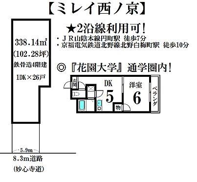 マンション(建物全部)-京都市中京区西ノ京中保町 間取り