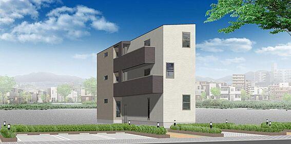 アパート-名古屋市南区道徳新町1丁目 外観パース ※配色等、変更になる可能性もございます。