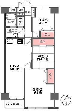 中古マンション-大阪市東成区大今里西3丁目 間取り