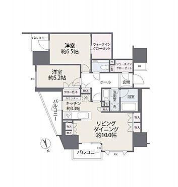 区分マンション-千代田区麹町4丁目 間取り図