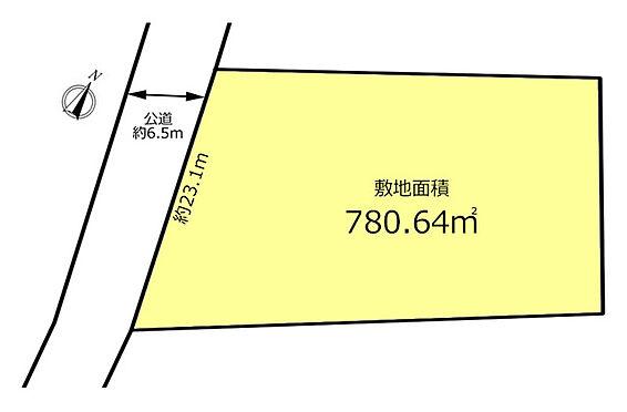 土地-立川市上砂町5丁目 区画図