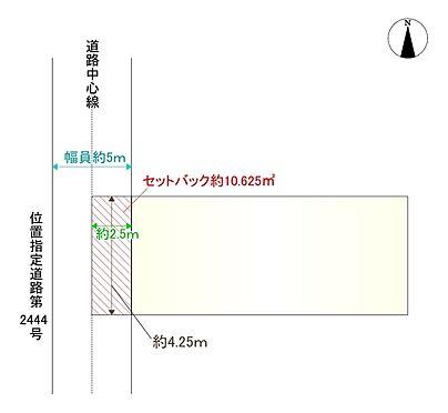 土地-京都市山科区小山中ノ川町 区画図