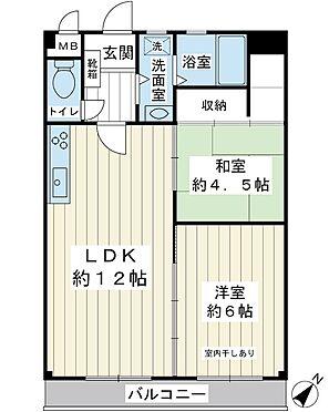 建物一部その他-浦安市北栄2丁目 南東向き4階。49.88平米。2LDK。入居前の室内画像をご用意しております。