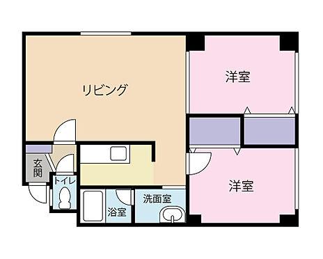 マンション(建物全部)-札幌市東区北二十三条東18丁目 2LDKタイプ