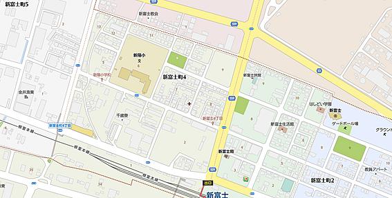 アパート-釧路市新富士町4丁目 地図