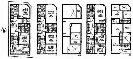 マンション(建物全部)-港区南青山7丁目 間取図