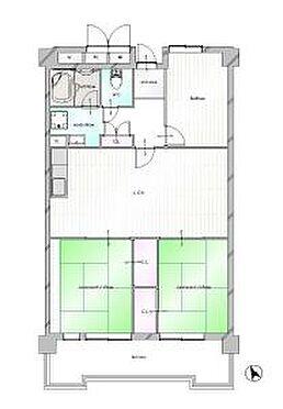 中古マンション-岡崎市矢作町字尊所 和室2部屋の3LDK!使いやすい間取りです。