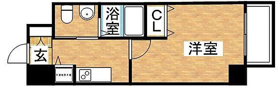 マンション(建物一部)-大阪市淀川区十八条1丁目 アメリカンセパレートの単身者向けの間取り