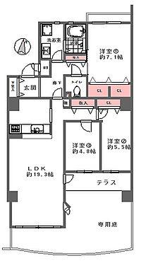 中古マンション-神戸市垂水区狩口台7丁目 間取り