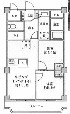 中古マンション-目黒区目黒本町2丁目 間取り