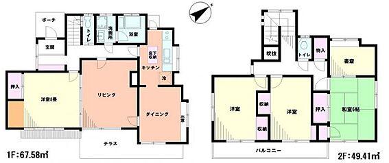 中古一戸建て-横浜市緑区白山4丁目 間取図