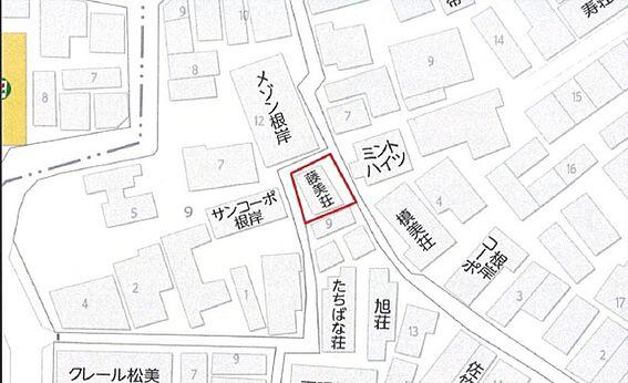 アパート-台東区根岸4丁目 案内図