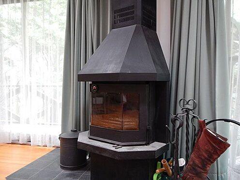 戸建賃貸-北佐久郡軽井沢町大字軽井沢 本格的な薪ストーブがあります。火を見ながらゆったりとくつろげます。