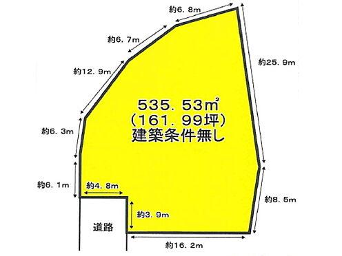 土地-岸和田市岡山町 区画図