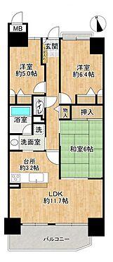 中古マンション-名古屋市守山区緑ヶ丘 南向きで明るい物件です。