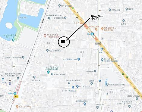 区分マンション-大阪市東住吉区山坂1丁目 地図