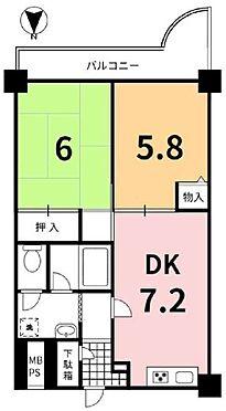 マンション(建物一部)-京都市伏見区深草下川原町 ゆったりと使える2DKタイプ