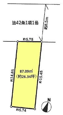 土地-杉並区荻窪1丁目 区画図