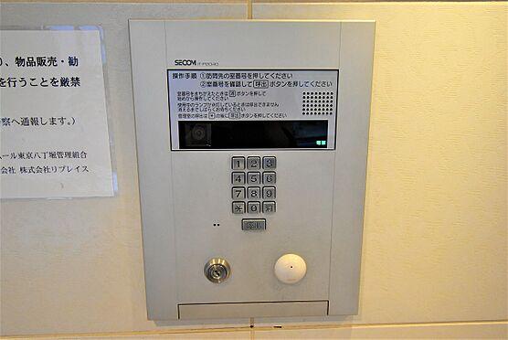 中古マンション-中央区八丁堀2丁目 室内のテレビモニターで来客も確認できます。